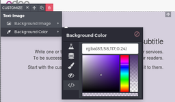 Web Editor Background Color Picker